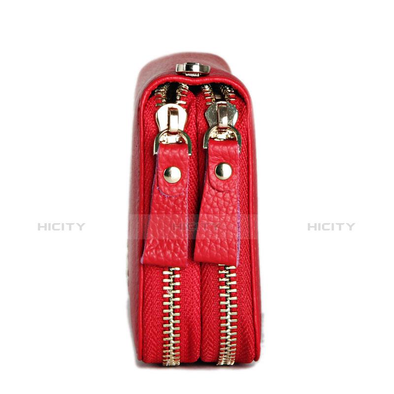 Coque Pochette Cuir Universel H21 Rouge Plus