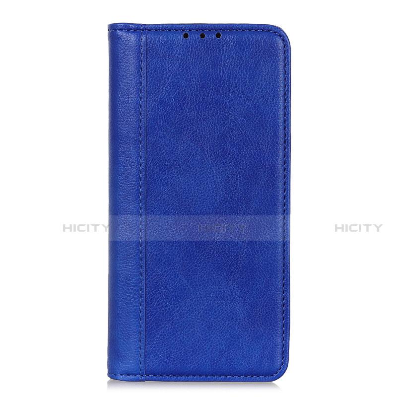 Coque Portefeuille Livre Cuir Etui Clapet L01 pour Motorola Moto G9 Plus Bleu Plus