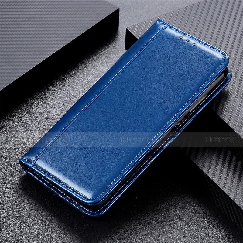 Coque Portefeuille Livre Cuir Etui Clapet L01 pour Oppo Reno3 A Bleu Plus