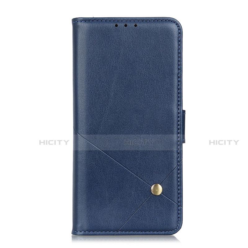Coque Portefeuille Livre Cuir Etui Clapet L02 pour Motorola Moto G9 Plus Bleu Plus