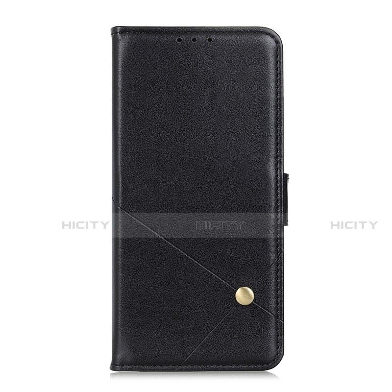 Coque Portefeuille Livre Cuir Etui Clapet L02 pour Motorola Moto G9 Plus Noir Plus