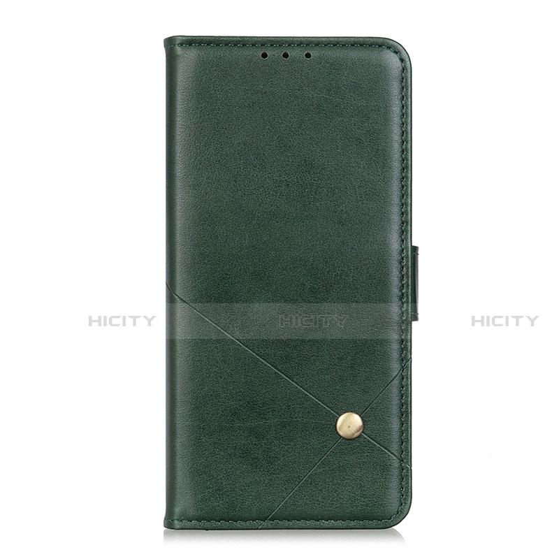 Coque Portefeuille Livre Cuir Etui Clapet L02 pour Motorola Moto G9 Plus Vert Plus