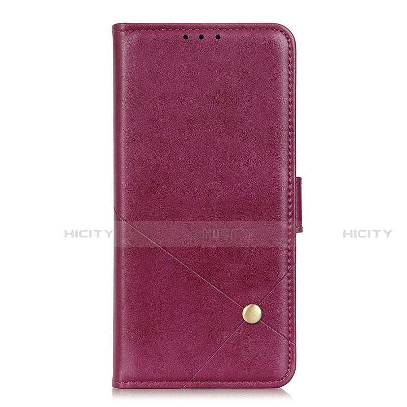 Coque Portefeuille Livre Cuir Etui Clapet L02 pour Motorola Moto G9 Plus Vin Rouge Plus