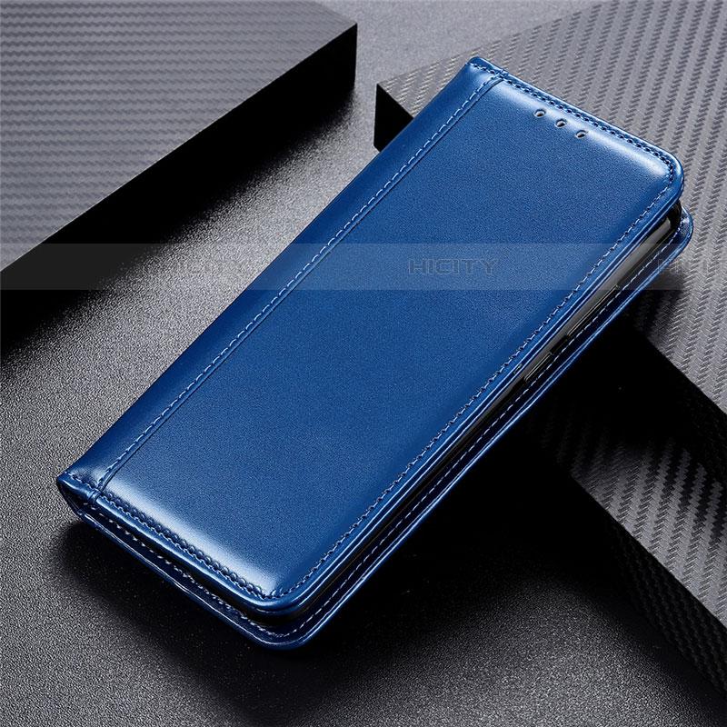 Coque Portefeuille Livre Cuir Etui Clapet L02 pour Oppo Find X2 Pro Bleu Plus