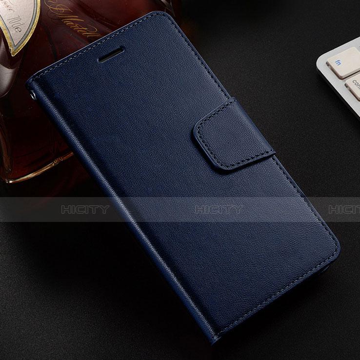 Coque Portefeuille Livre Cuir Etui Clapet L03 pour Huawei Honor 8X Bleu Plus