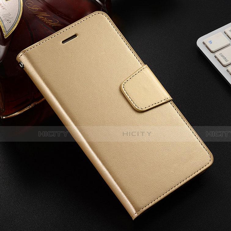 Coque Portefeuille Livre Cuir Etui Clapet L03 pour Huawei Honor 8X Or Plus