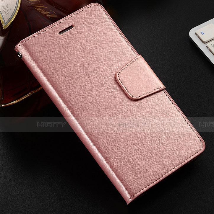 Coque Portefeuille Livre Cuir Etui Clapet L03 pour Huawei Honor 8X Or Rose Plus