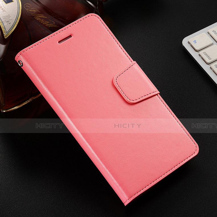 Coque Portefeuille Livre Cuir Etui Clapet L03 pour Huawei Honor 8X Rose Plus