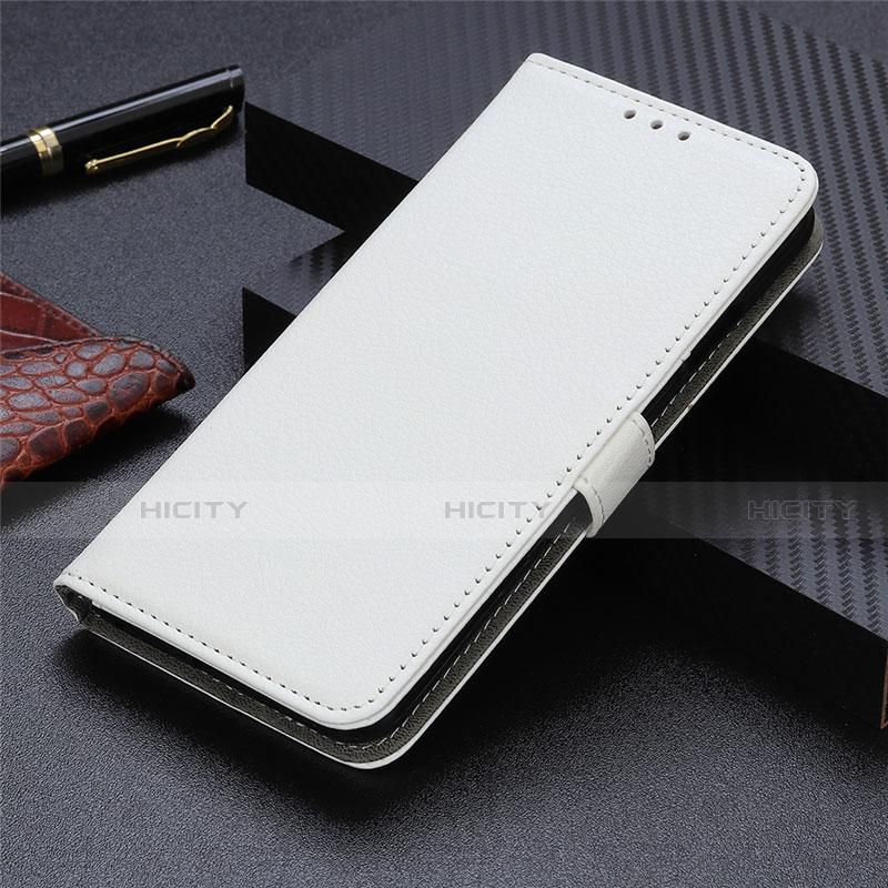 Coque Portefeuille Livre Cuir Etui Clapet L03 pour Motorola Moto G9 Plus Blanc Plus