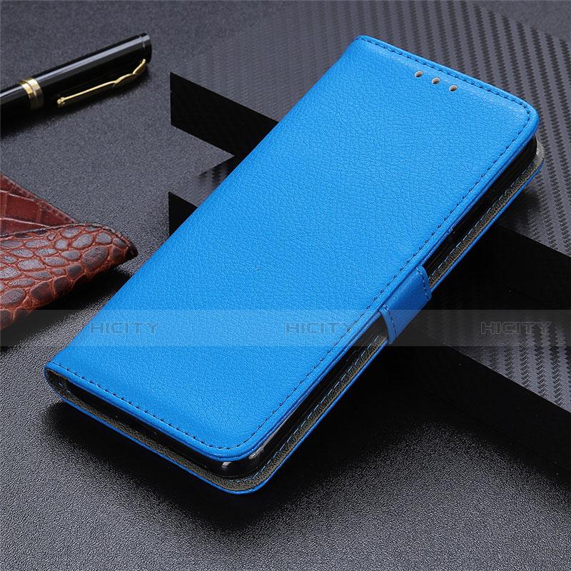 Coque Portefeuille Livre Cuir Etui Clapet L03 pour Motorola Moto G9 Plus Bleu Ciel Plus