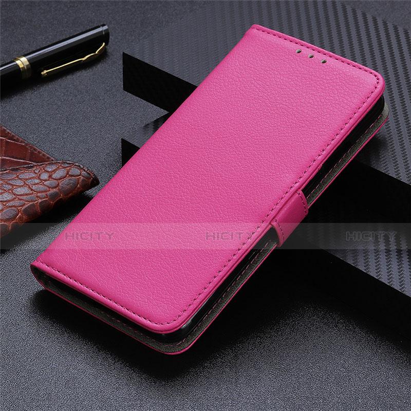 Coque Portefeuille Livre Cuir Etui Clapet L03 pour Motorola Moto G9 Plus Rose Rouge Plus
