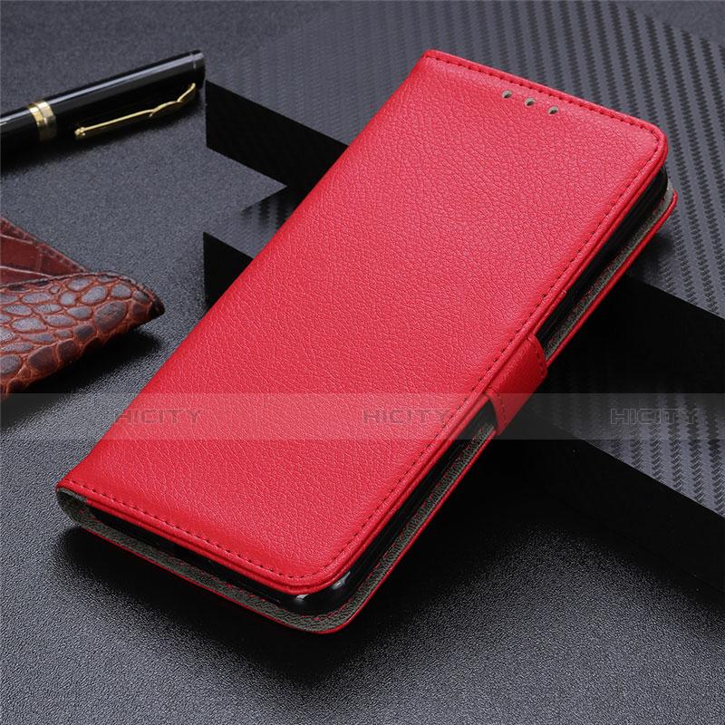 Coque Portefeuille Livre Cuir Etui Clapet L03 pour Motorola Moto G9 Plus Rouge Plus