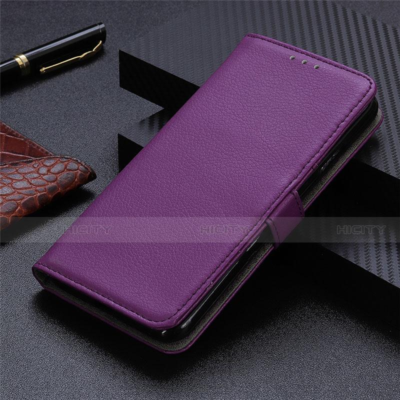 Coque Portefeuille Livre Cuir Etui Clapet L03 pour Motorola Moto G9 Plus Violet Plus