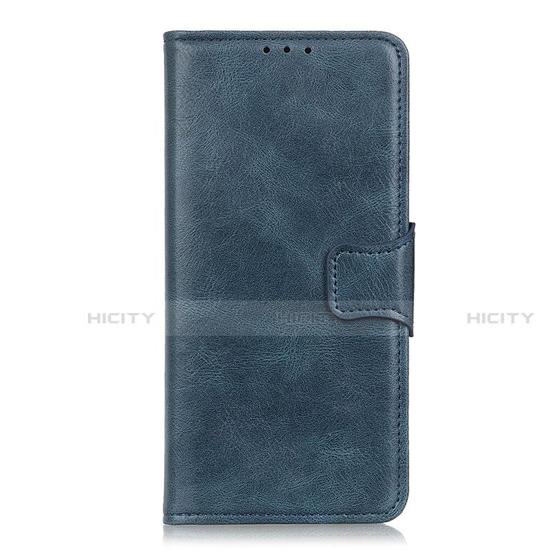 Coque Portefeuille Livre Cuir Etui Clapet L03 pour Oppo Reno3 A Bleu Plus