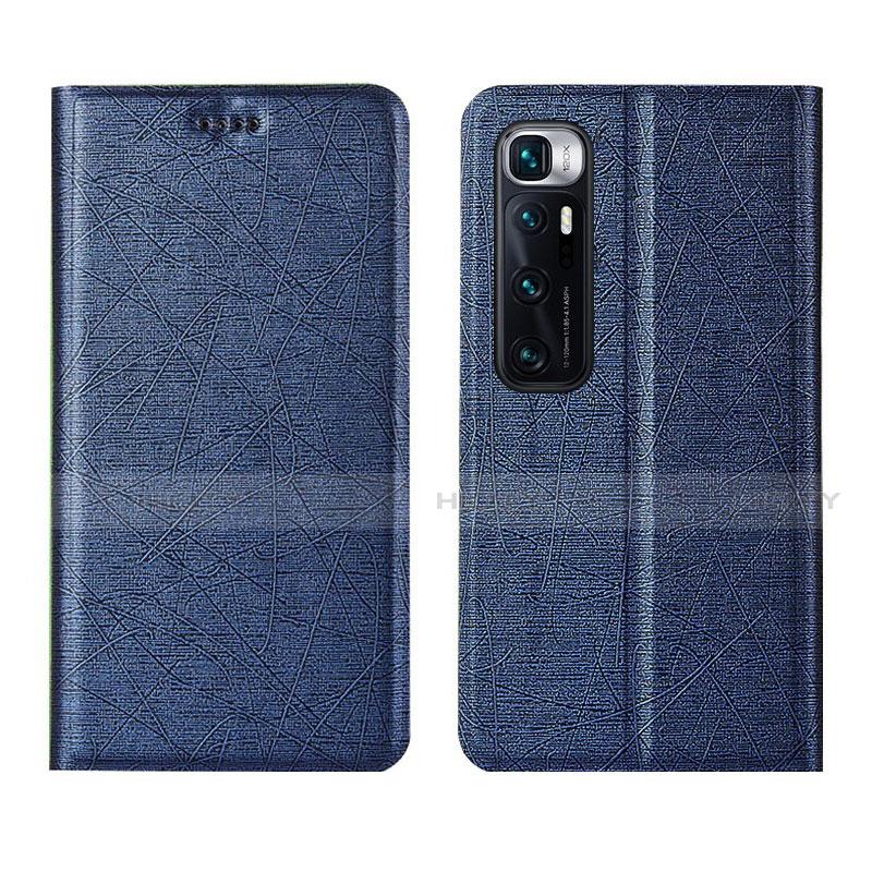 Coque Portefeuille Livre Cuir Etui Clapet L03 pour Xiaomi Mi 10 Ultra Bleu Plus