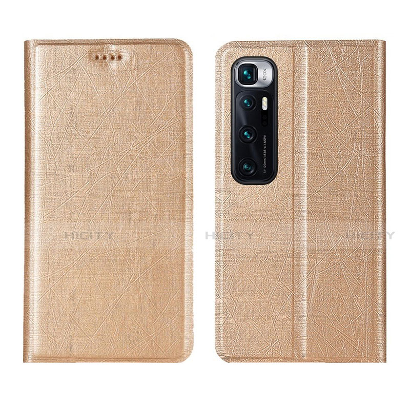 Coque Portefeuille Livre Cuir Etui Clapet L03 pour Xiaomi Mi 10 Ultra Or Plus