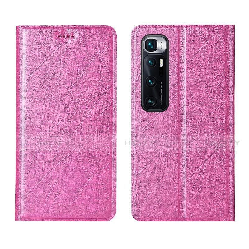 Coque Portefeuille Livre Cuir Etui Clapet L03 pour Xiaomi Mi 10 Ultra Rose Plus