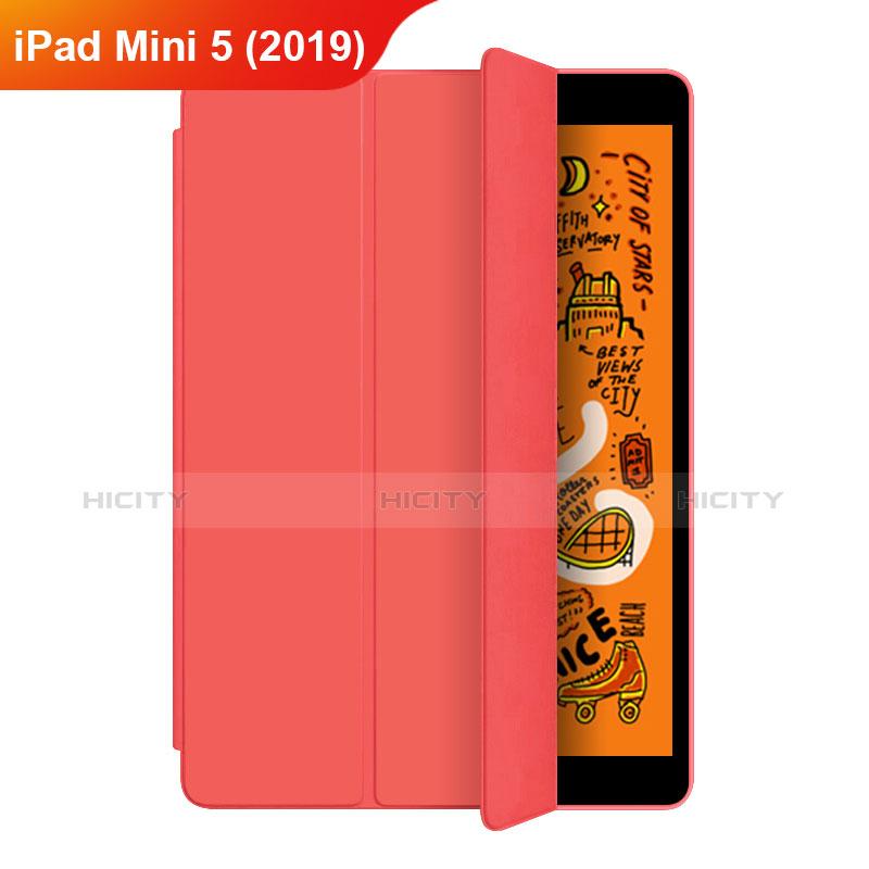Coque Portefeuille Livre Cuir Etui Clapet L04 pour Apple iPad Mini 5 (2019) Rouge Plus