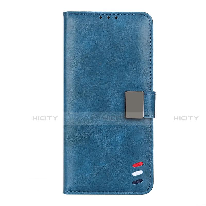 Coque Portefeuille Livre Cuir Etui Clapet L04 pour Motorola Moto G9 Plus Bleu Plus