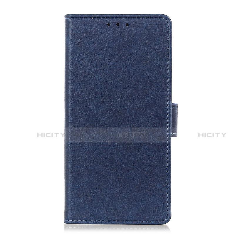 Coque Portefeuille Livre Cuir Etui Clapet L04 pour Oppo Reno3 A Bleu Plus