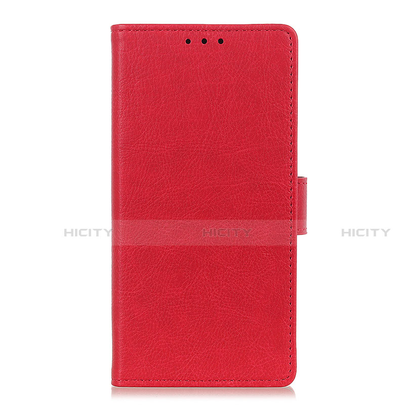 Coque Portefeuille Livre Cuir Etui Clapet L04 pour Oppo Reno3 A Rouge Plus