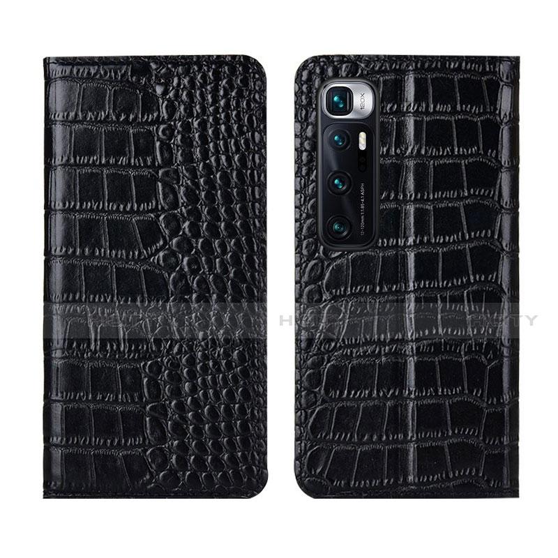 Coque Portefeuille Livre Cuir Etui Clapet L04 pour Xiaomi Mi 10 Ultra Noir Plus
