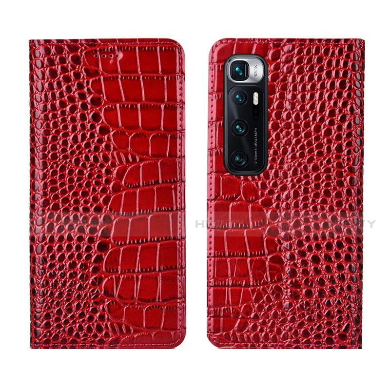 Coque Portefeuille Livre Cuir Etui Clapet L04 pour Xiaomi Mi 10 Ultra Rouge Plus