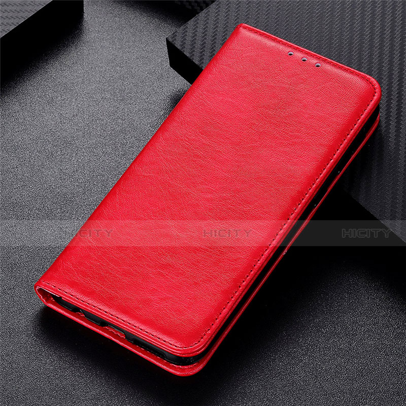Coque Portefeuille Livre Cuir Etui Clapet L05 pour Motorola Moto G9 Plus Rouge Plus