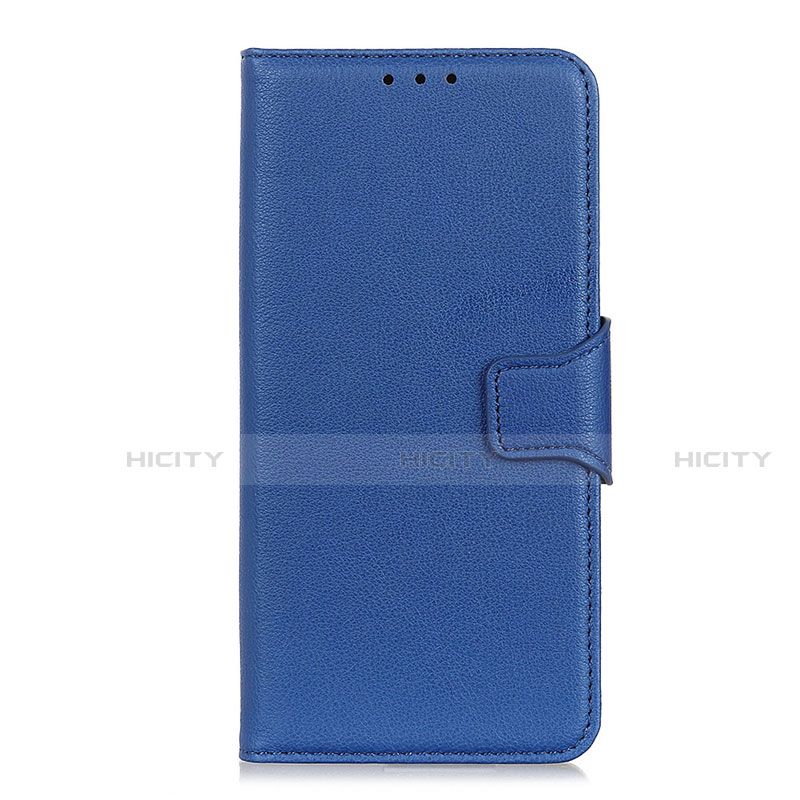 Coque Portefeuille Livre Cuir Etui Clapet L05 pour Oppo Reno3 A Bleu Plus