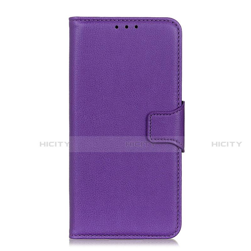 Coque Portefeuille Livre Cuir Etui Clapet L05 pour Oppo Reno3 A Violet Plus