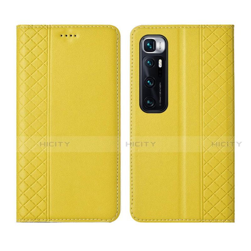 Coque Portefeuille Livre Cuir Etui Clapet L05 pour Xiaomi Mi 10 Ultra Jaune Plus