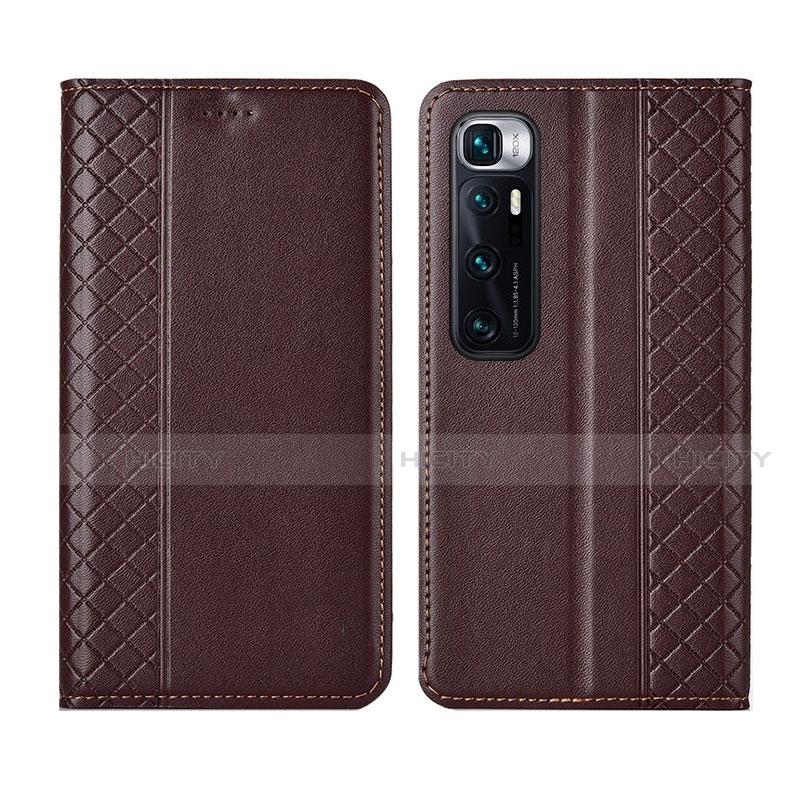 Coque Portefeuille Livre Cuir Etui Clapet L05 pour Xiaomi Mi 10 Ultra Marron Plus