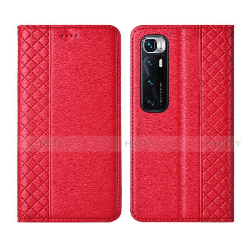 Coque Portefeuille Livre Cuir Etui Clapet L05 pour Xiaomi Mi 10 Ultra Rouge Plus