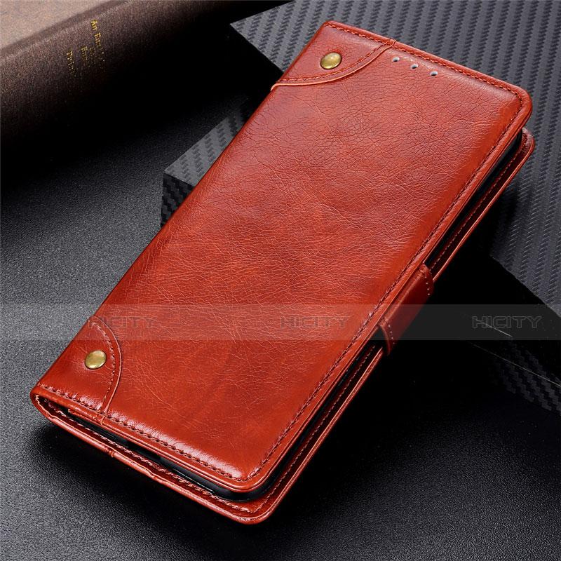 Coque Portefeuille Livre Cuir Etui Clapet L06 pour Motorola Moto G9 Plus Brun Clair Plus