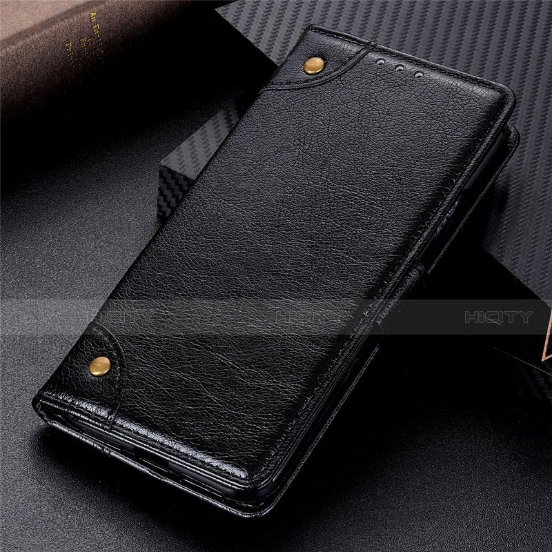 Coque Portefeuille Livre Cuir Etui Clapet L06 pour Motorola Moto G9 Plus Noir Plus