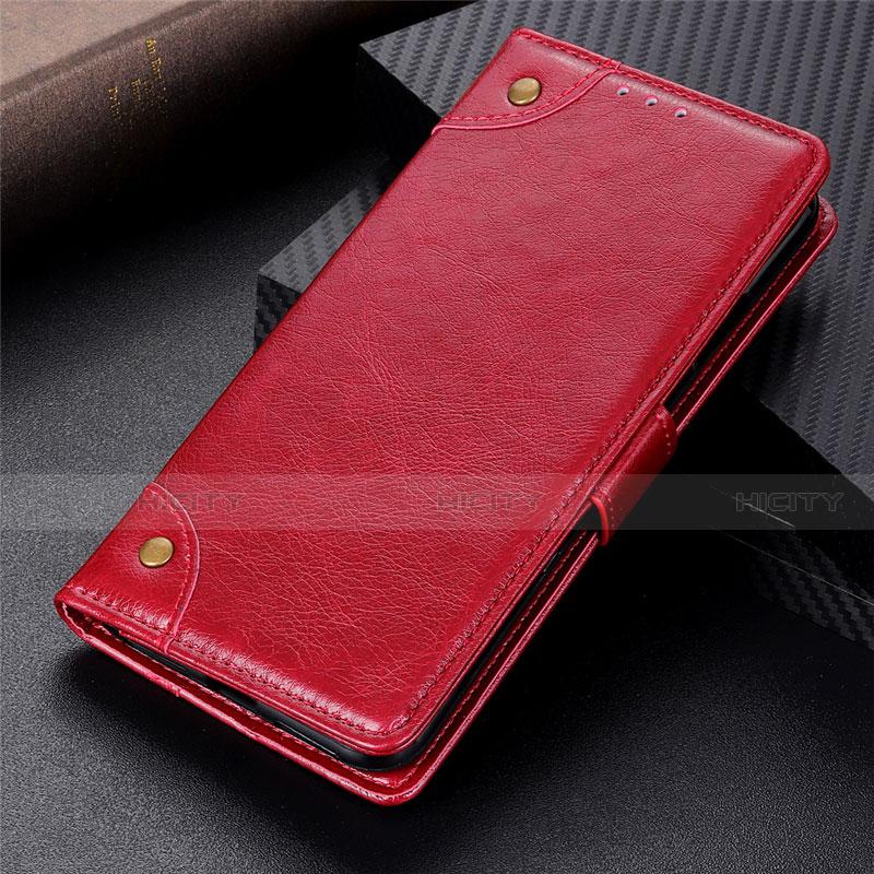 Coque Portefeuille Livre Cuir Etui Clapet L06 pour Motorola Moto G9 Plus Rouge Plus