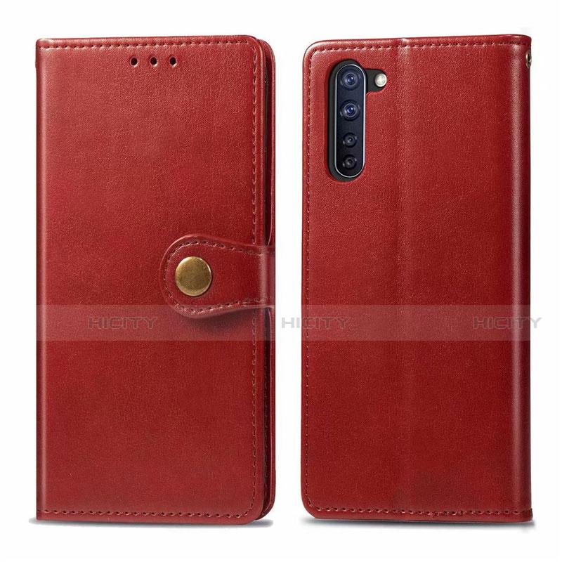 Coque Portefeuille Livre Cuir Etui Clapet L06 pour Oppo Reno3 A Rouge Plus