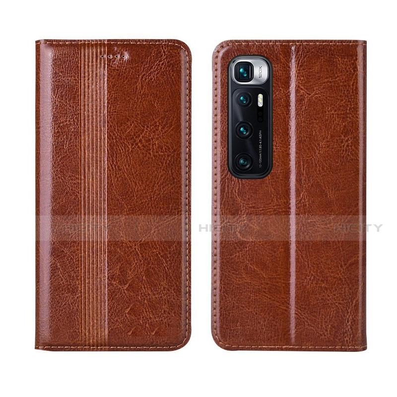 Coque Portefeuille Livre Cuir Etui Clapet L06 pour Xiaomi Mi 10 Ultra Brun Clair Plus