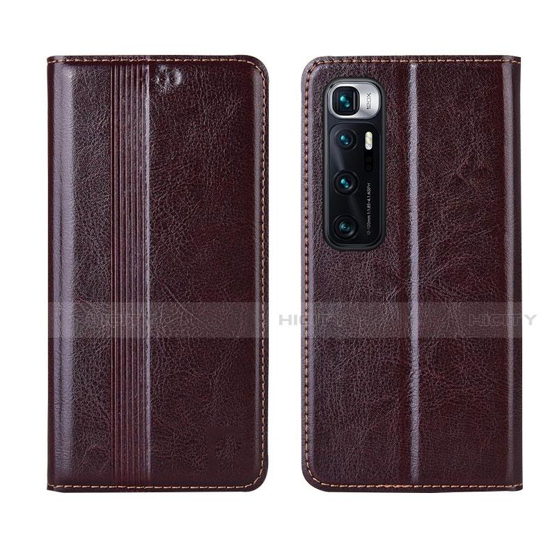 Coque Portefeuille Livre Cuir Etui Clapet L06 pour Xiaomi Mi 10 Ultra Marron Plus