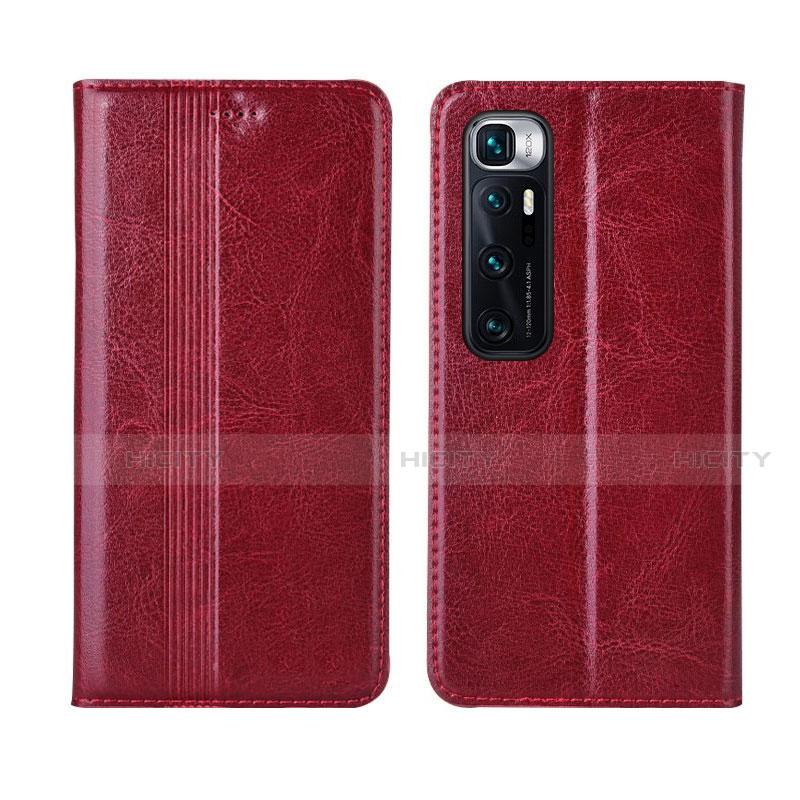 Coque Portefeuille Livre Cuir Etui Clapet L06 pour Xiaomi Mi 10 Ultra Rouge Plus