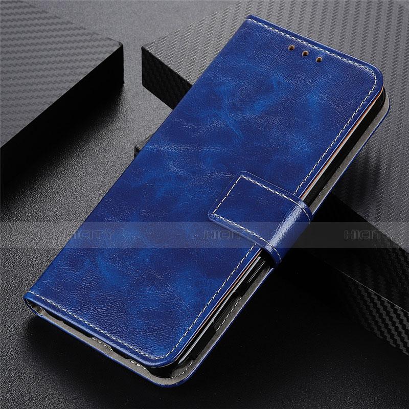 Coque Portefeuille Livre Cuir Etui Clapet L07 pour Motorola Moto G9 Plus Bleu Plus