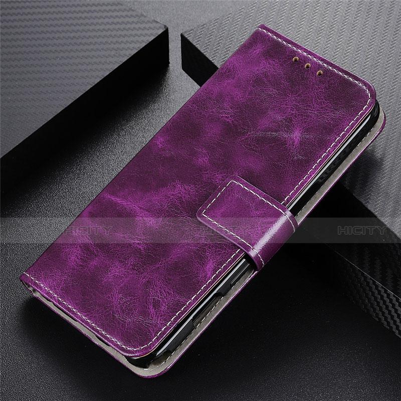 Coque Portefeuille Livre Cuir Etui Clapet L07 pour Motorola Moto G9 Plus Violet Plus