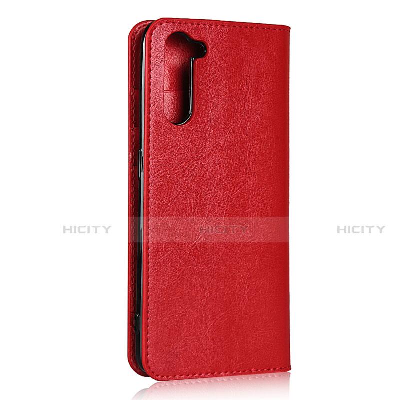 Coque Portefeuille Livre Cuir Etui Clapet L07 pour Oppo Reno3 A Rouge Plus