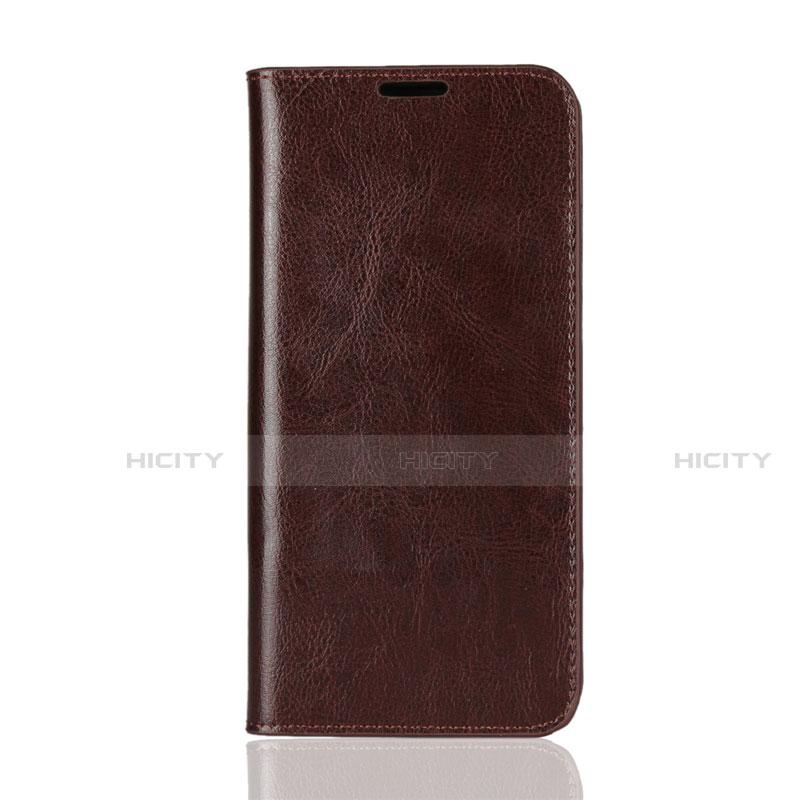 Coque Portefeuille Livre Cuir Etui Clapet L08 pour Huawei Honor 8X Marron Plus