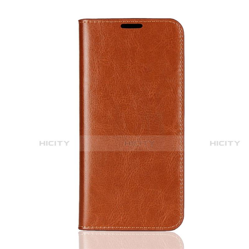 Coque Portefeuille Livre Cuir Etui Clapet L08 pour Huawei Honor 8X Orange Plus