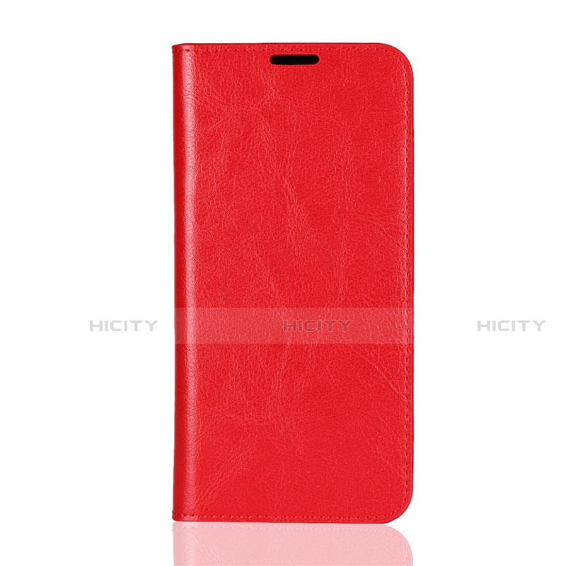 Coque Portefeuille Livre Cuir Etui Clapet L08 pour Huawei Honor 8X Rouge Plus
