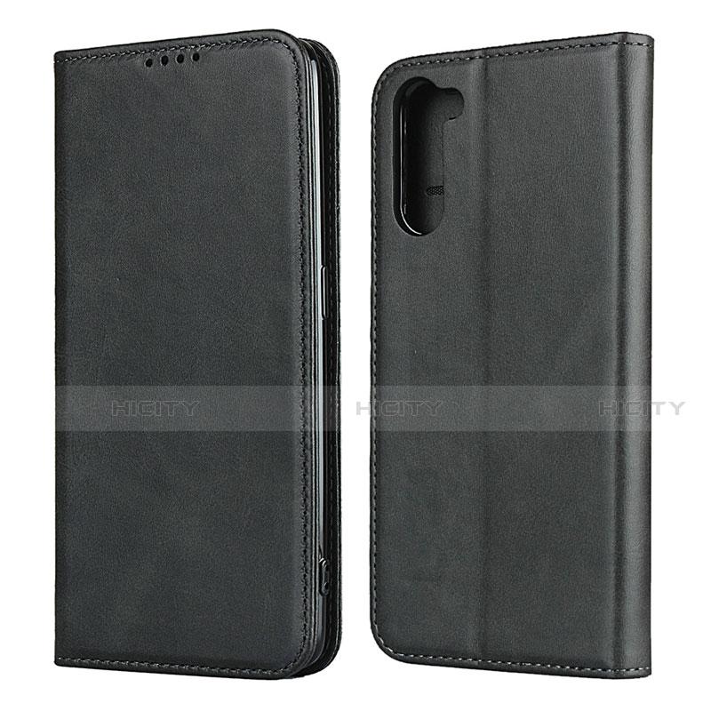 Coque Portefeuille Livre Cuir Etui Clapet L08 pour Oppo Reno3 A Noir Plus