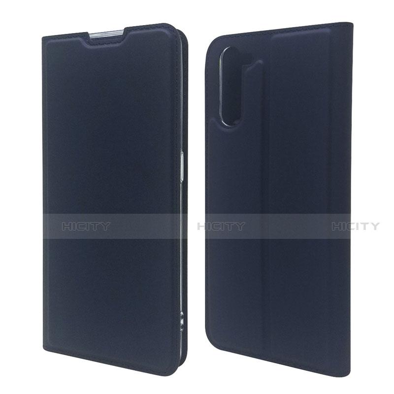 Coque Portefeuille Livre Cuir Etui Clapet L09 pour Oppo Reno3 A Bleu Royal Plus