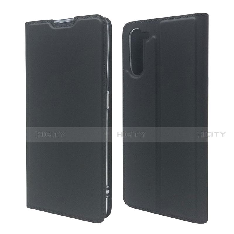 Coque Portefeuille Livre Cuir Etui Clapet L09 pour Oppo Reno3 A Noir Plus