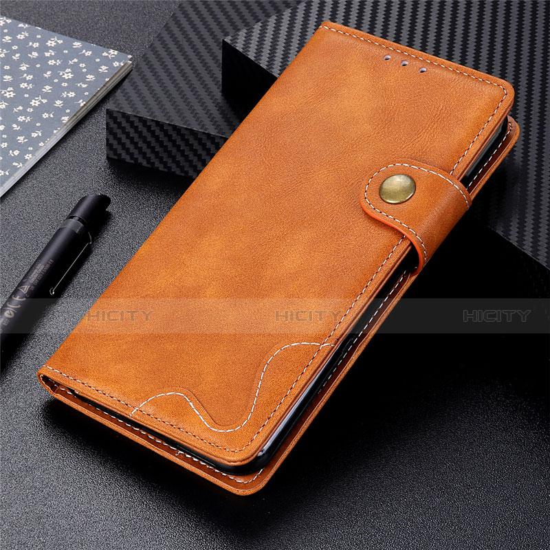 Coque Portefeuille Livre Cuir Etui Clapet pour Motorola Moto G9 Plus Orange Plus